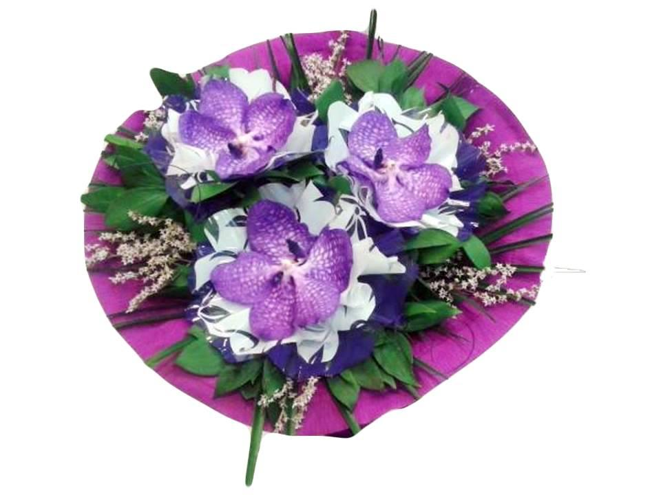 Кръгъл букет от орхидея