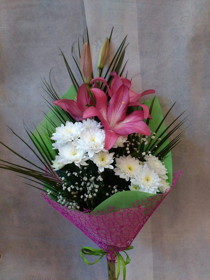 Лилиум и хризантема