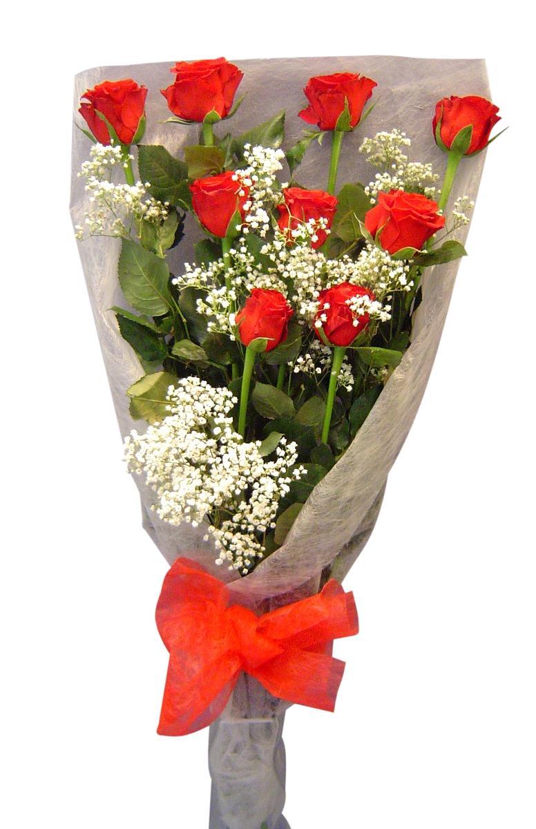 Букет червени рози