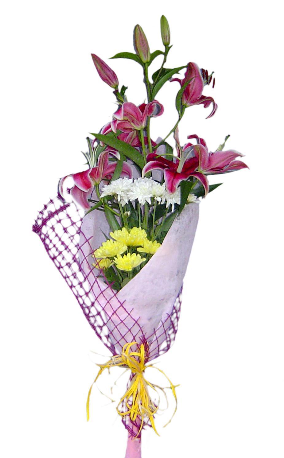 Лилиум и хризантеми