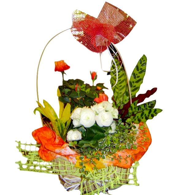 Кошница с цветя микс