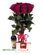 Рози с подарък