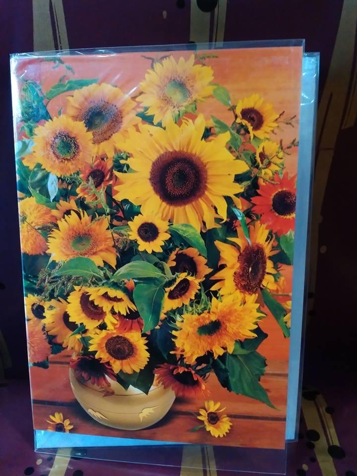 Картичка със слънчогледи